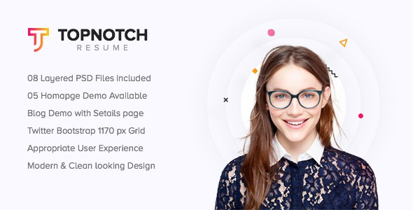 Topnotch - Creative Resume PSD Template