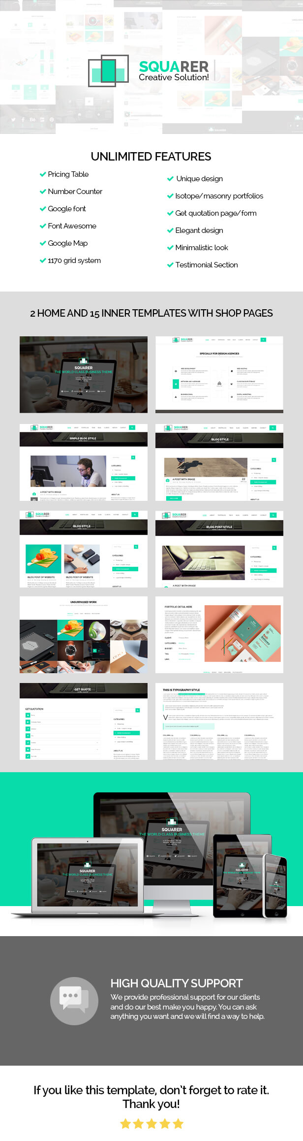 Squarer Agency PSD Template - 3