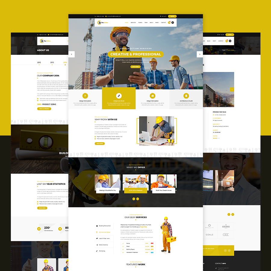 The Billtro - Construction PSD Template - 2