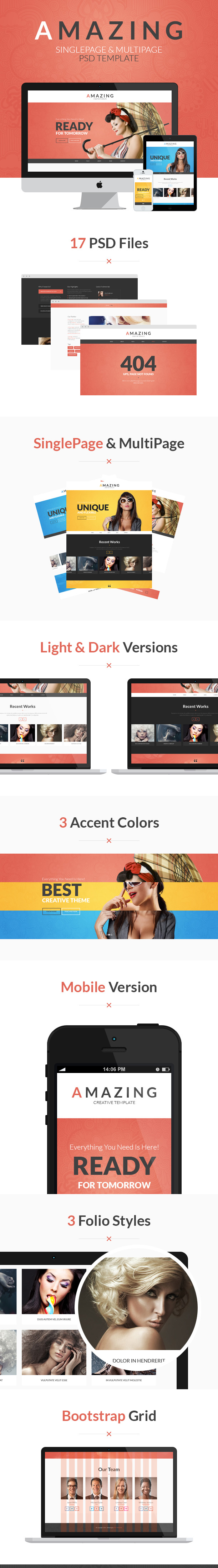Amazing PSD bootstrap template