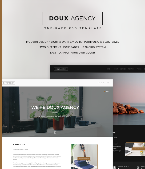 Doux - Creative One-Page PSD Template - 4