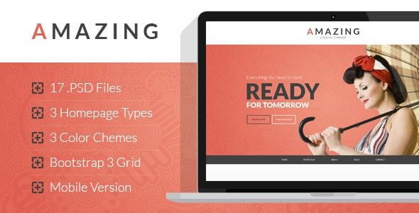 Amazing - Multipurpose Onepage & Multipage PSD Template