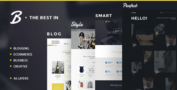 B - Business, Blog and Portfolio Template