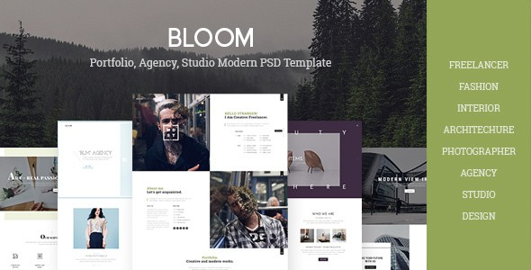 Bloom - Multi Purpose Design / Architecture / Interior / Portfolio PSD Template