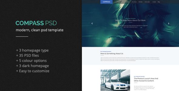 Compass PSD Template