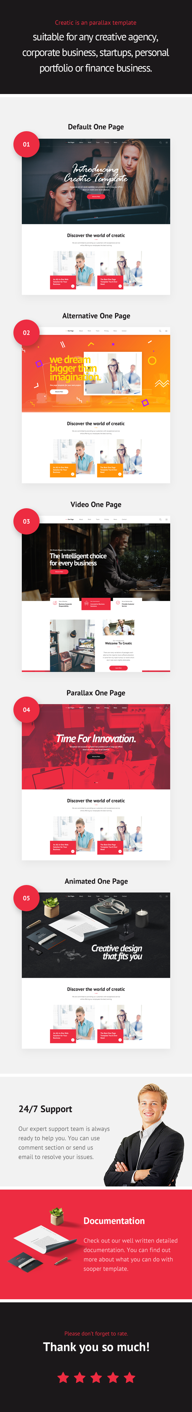 Creatic - One Page Creative Parallax Template - 2