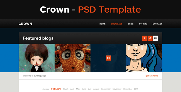 Crown - A Clean Pixel Perfect PSD Template