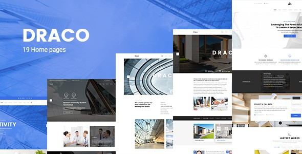 Draco -  Construction, Building, Business, and Architecture PSD Template