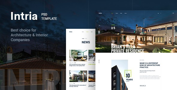 Intria - Architecture & Interior PSD Template