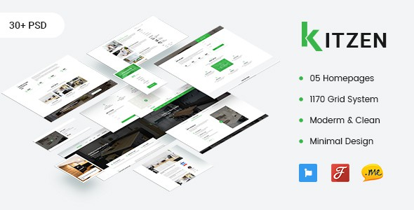 Kitzen | Modern Kitchen PSD Template