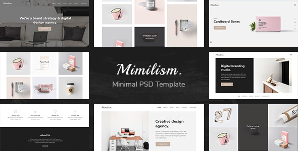 Mimilism — Clean & Minimal Portfolio PSD Template