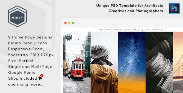 Minty - Agency and Architect PSD Template