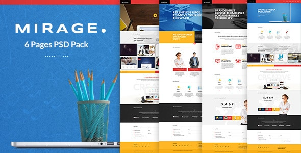 Mirage - Multipages PSD Template