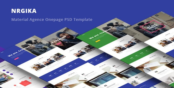 NRGika - Material Design Agency Template