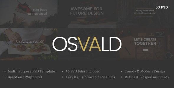 OSVALD - Multi-Purpose PSD Template