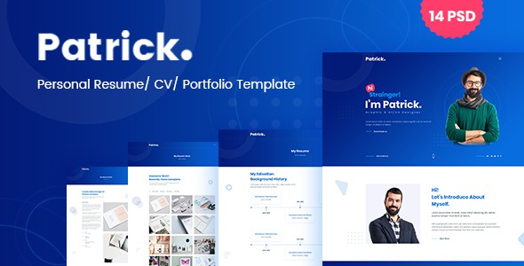 Patrick - Modern Personal Resume PSD Template