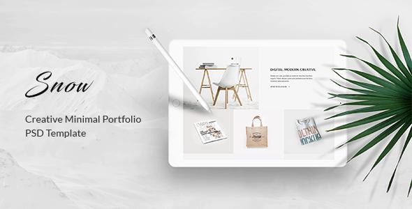 Snow - Minimal & Clean Portfolio PSD Template