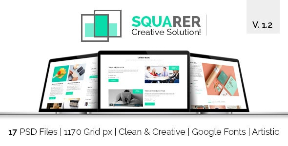 Squarer Agency PSD Template