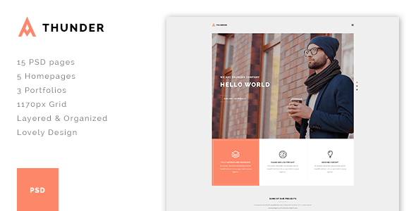 Thunder - Multi Concept PSD Template