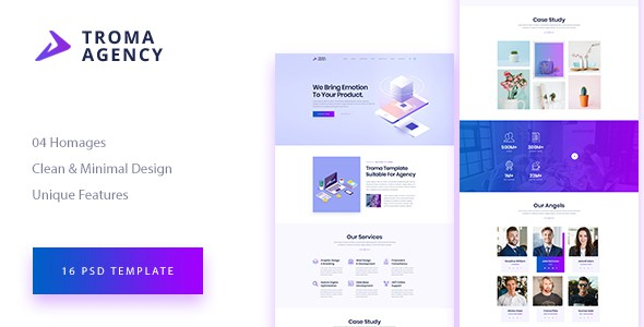 TROMA - Creative Agency PSD Template