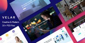 Velar — Creative and Modern Multipurpose PSD Template