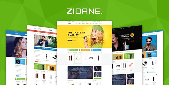 Zidane - E-Cigarettes Ecommerce PSD Template
