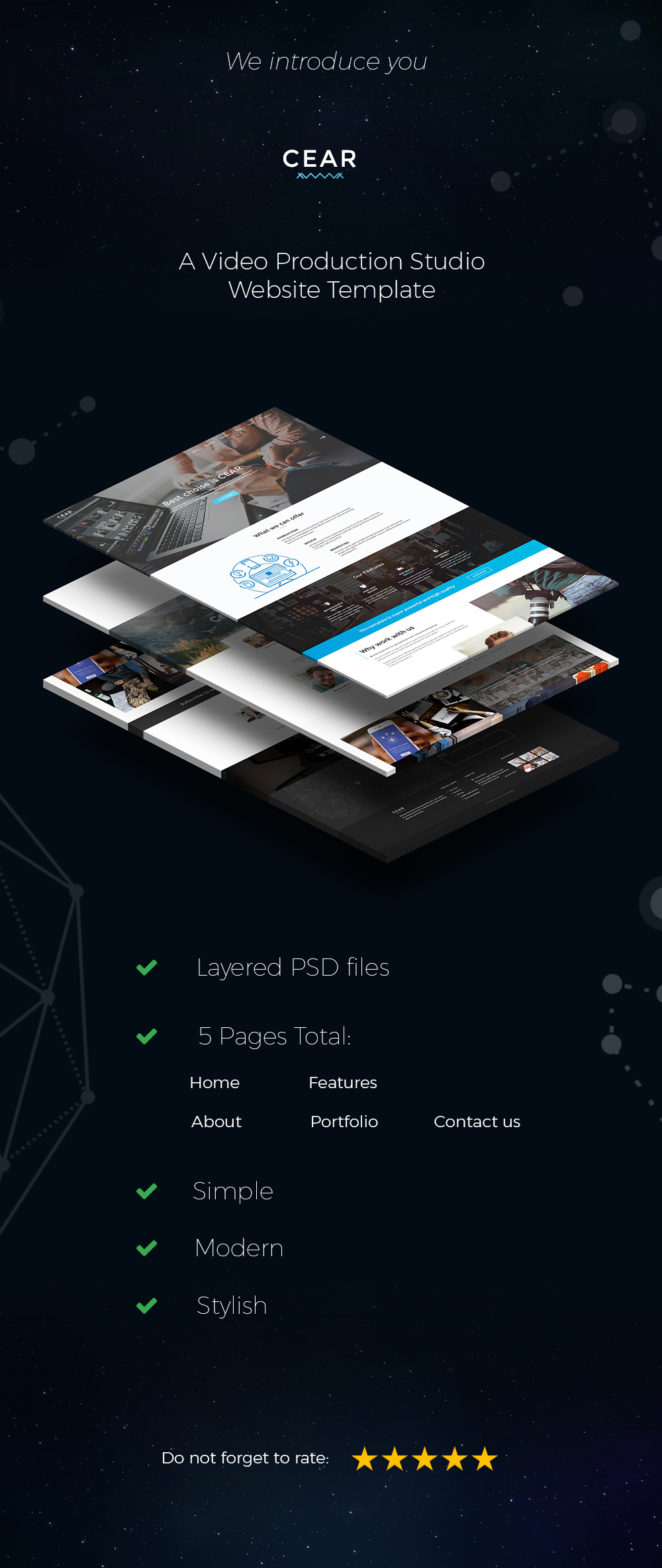 CEAR - Video Production Website PSD Template - 1