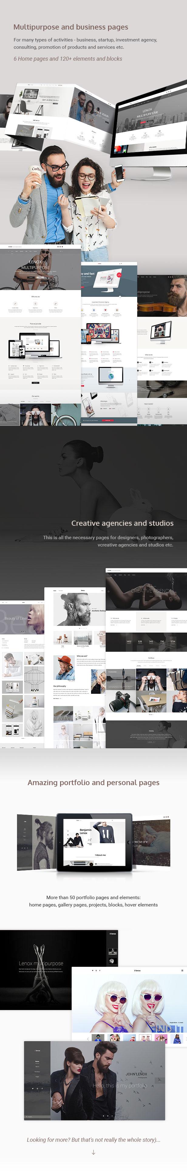 Lenox — Creative MultiConcept PSD Template - 4