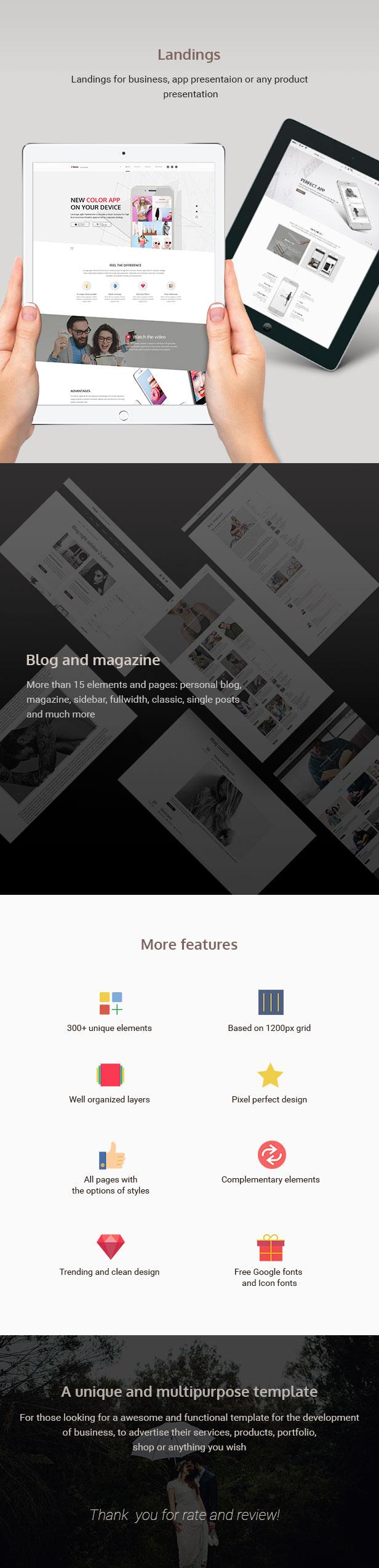 Lenox — Creative MultiConcept PSD Template - 6