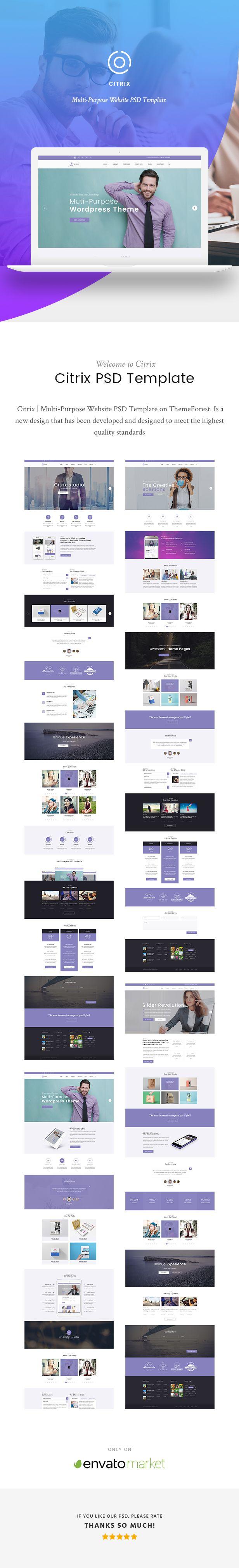 Citrix | Multi-Purpose Website PSD Template - 2