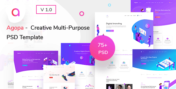 Agopa - Creative Multipurpose  PSD Template