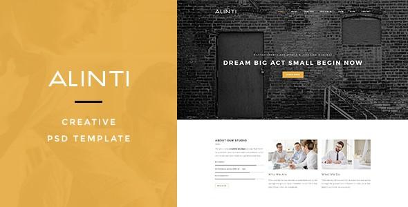 Alinti - Creative PSD Portfolio