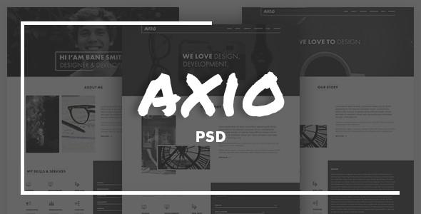 Axio | Agency and Portfolio PSD Template