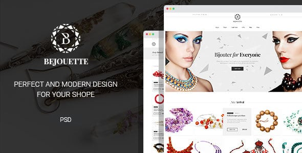 Bejouette - Handmade Jewelry Designer PSD Template