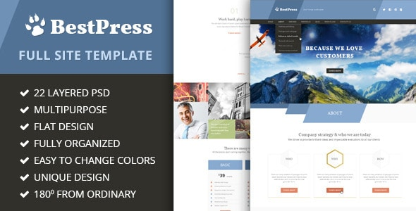 BestPress - Full Site Template