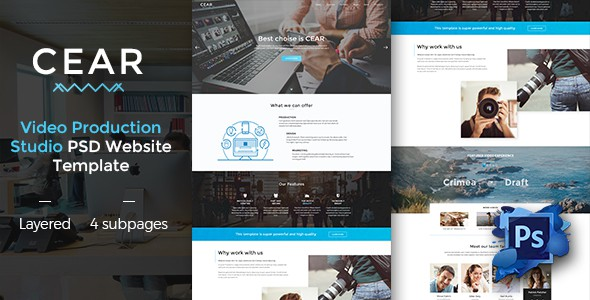 CEAR - Video Production Website PSD Template