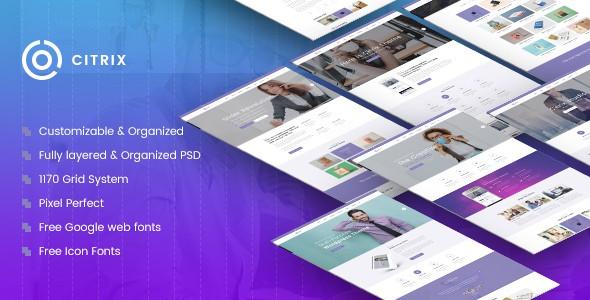 Citrix | Multi-Purpose Website PSD Template