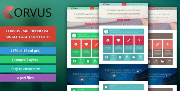 Corvus - Multipurpose Single Page Portfolio