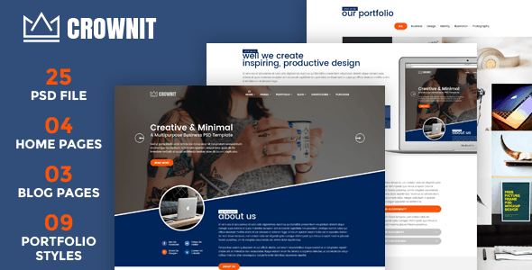 CrownIT - Multipurpose PSD Template