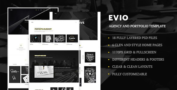 Evio - Agency and Portfolio Template