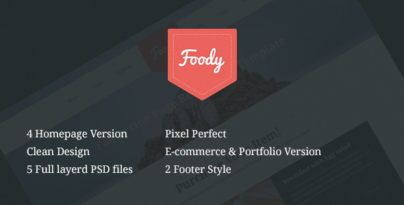 Foody Multipurpose Single Page Restaurant Template