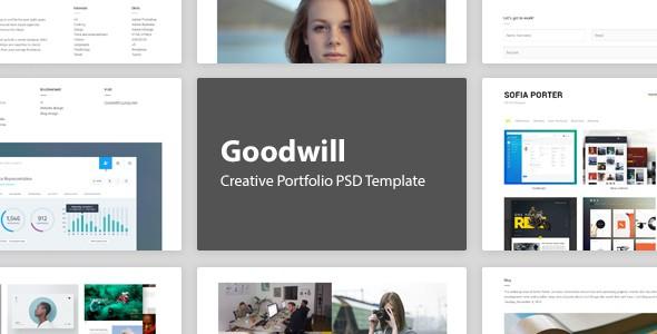 Goodwill – Creative Portfolio PSD Template