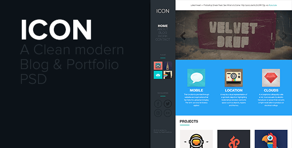 ICON - PSD Portfolio & Blog Template