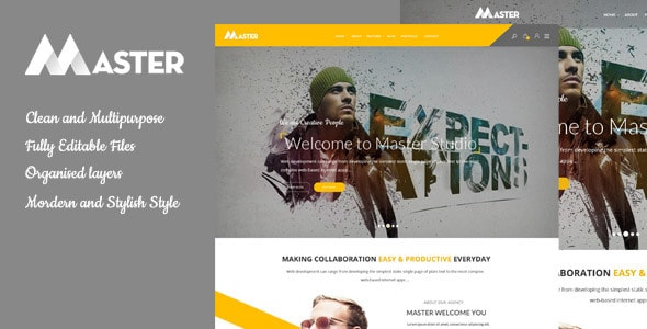 Master - Ultimate Multipurpose PSD Template