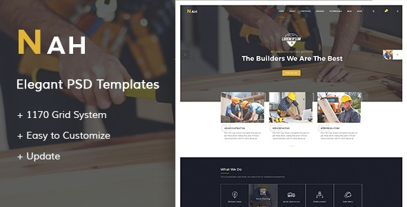 Nah - Construction PSD Templates