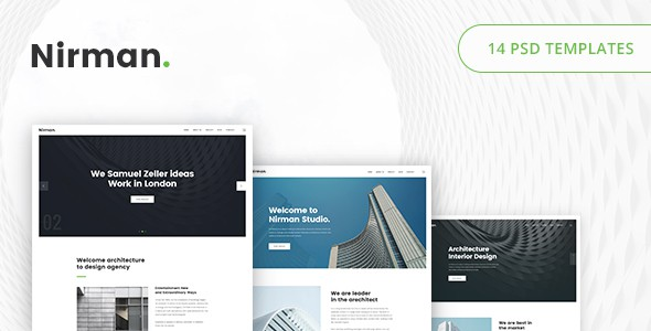 Nirman - Architecture PSD Template