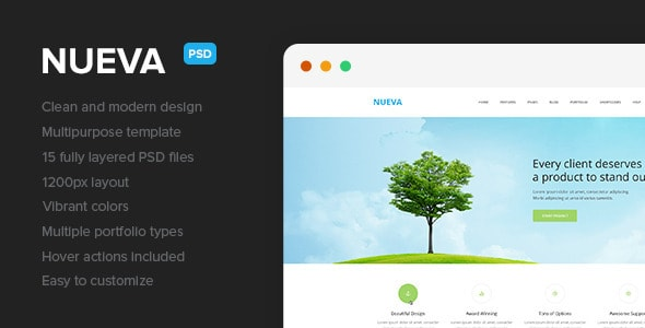 Nueva – Multipurpose PSD Template