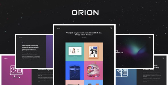 Orion – Digital Agency PSD Template