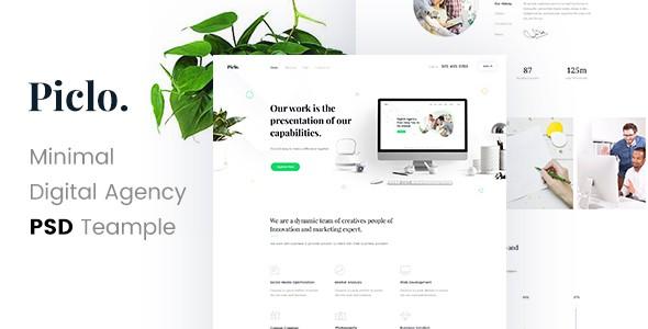 Piclo. - Minimal Digital Agency PSD Template