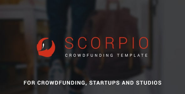 Scorpio: Crowdfunding and Startup PSD Theme